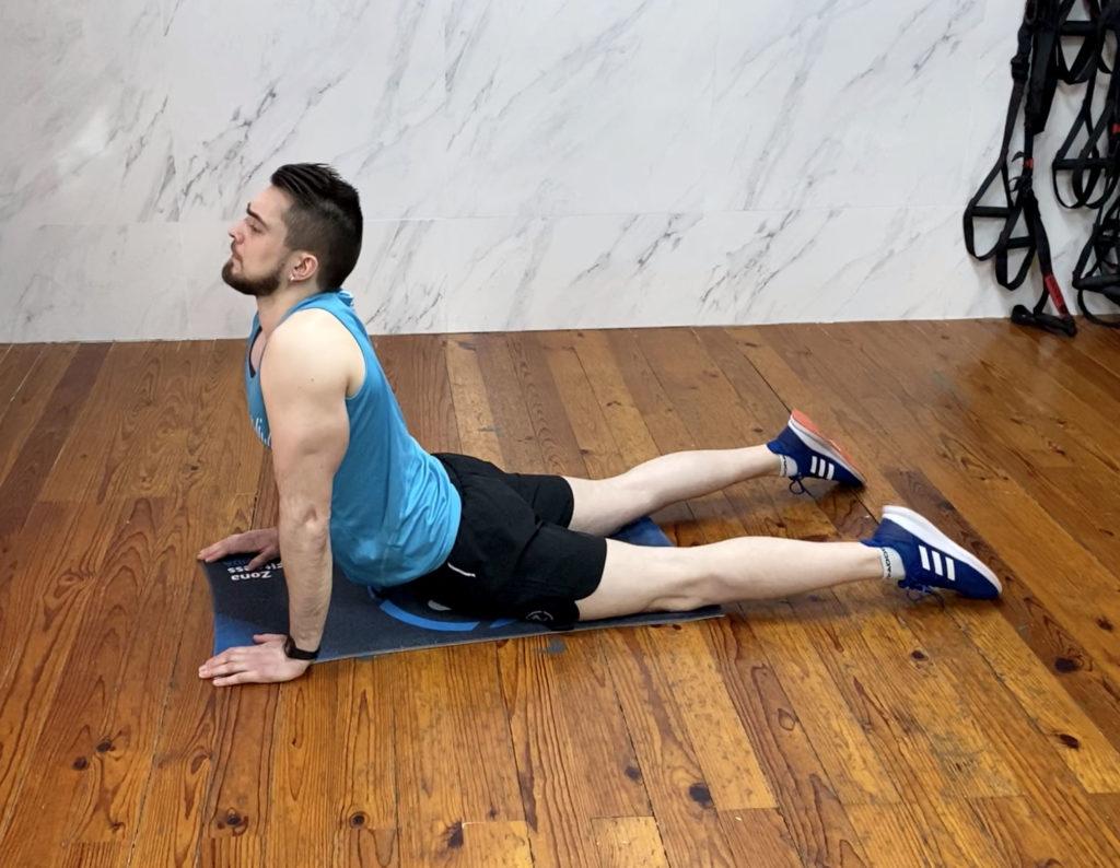 exercici d'estiraments d'abdominals per fer a casa