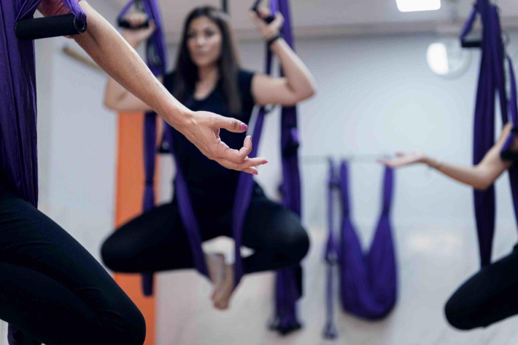 Meditació a la classe d'activitat dirigida